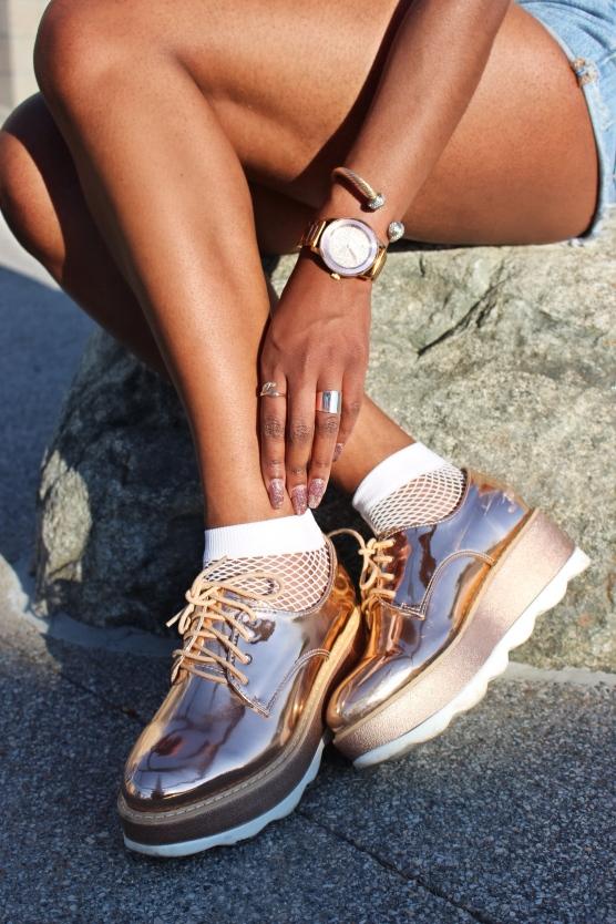 close up shoes Facetune